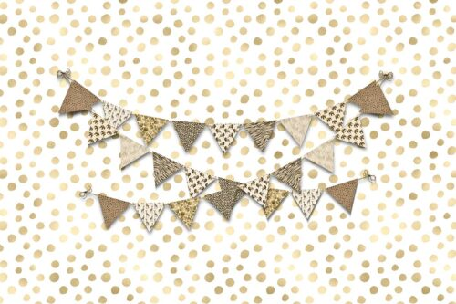 Safari Themed Bunting Photography Backdrop