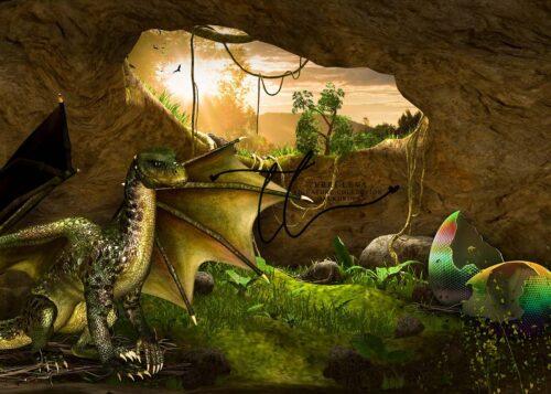 Dragon themed backdrop