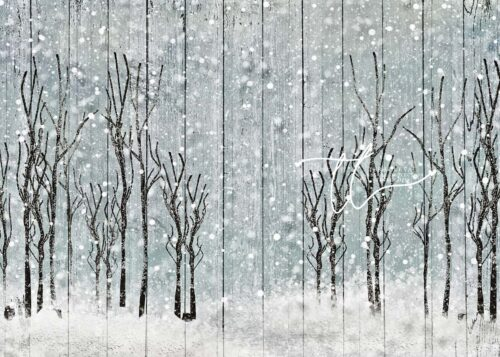 Winter Trees on Wood Panels