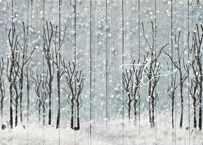 Winter Trees on Wood Panels