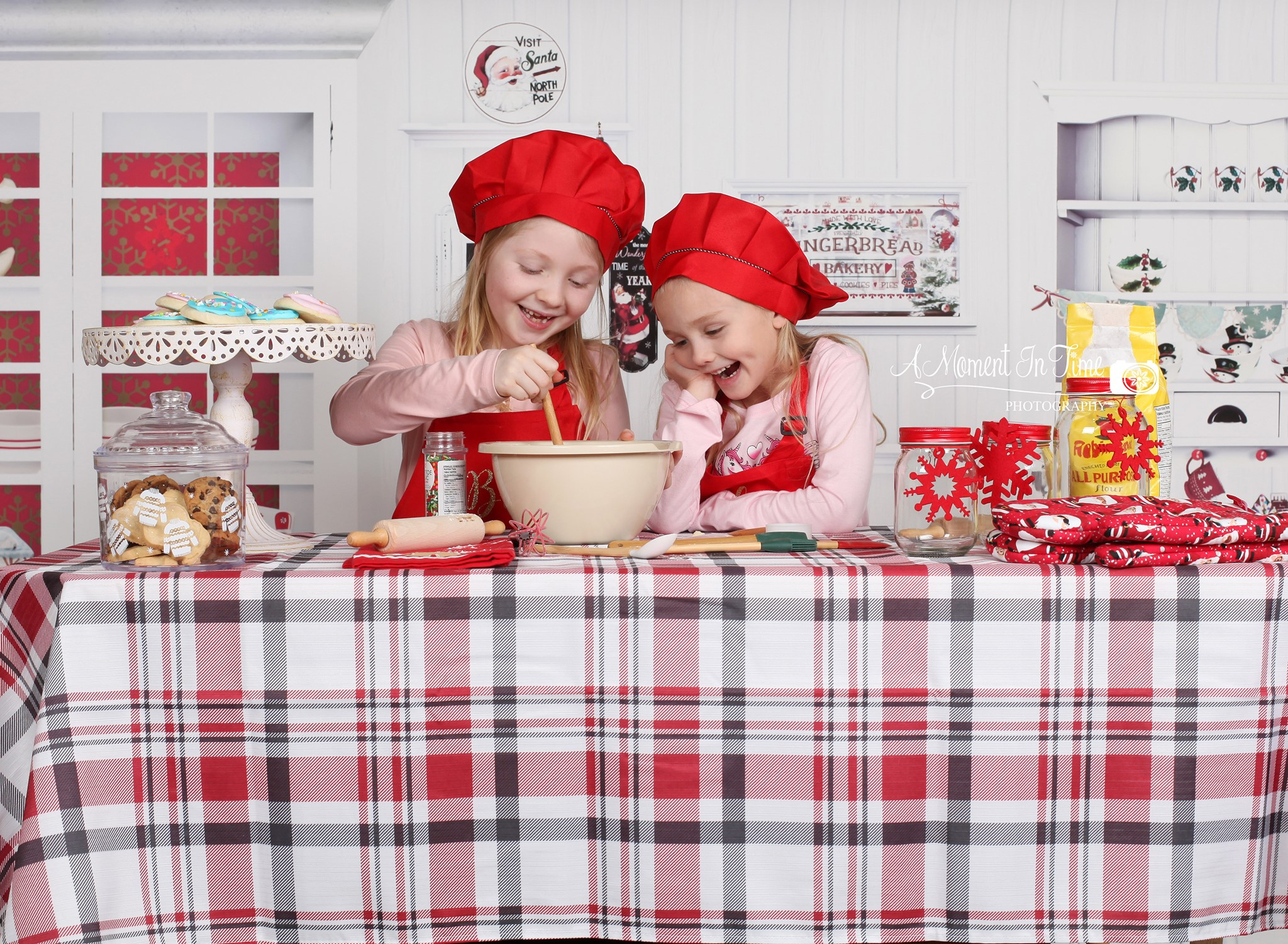 Two Young Girls Baking for Photoshoot