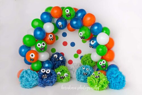 Monster Balloon Arch Photography Backdrop