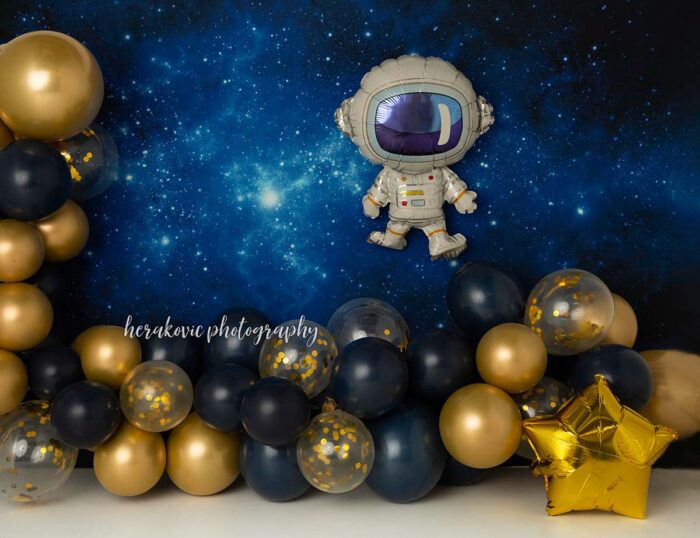 Space Balloon Arch Photography Backdrop